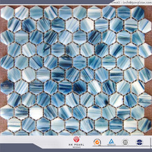 hexagon glass mosaic high quality glass mosaic wall tiles honeycomb mosaic tile