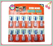 Cheapest price General Purpose Strongest super glue for shoes with 12pcs per card