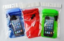 Portable Waterproof Case Pouch Dry Bag with 3.5mm Earphone Jack and Neck Strap for iPhone