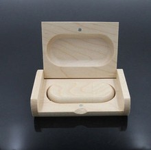 Fashion gift wooden usb with box, natural wooden usb stick, gift usb memory