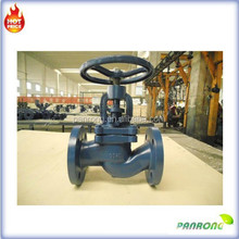 DIN standard bellows seal cast steel flange globe valve