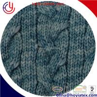 wool/cotton tape yarn air spray dyed yarn. tape yarn fancy knitting tape yarn. tape knitting yarn