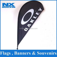 dye sublimation 110g knitted polyester feather windblade flags banners set