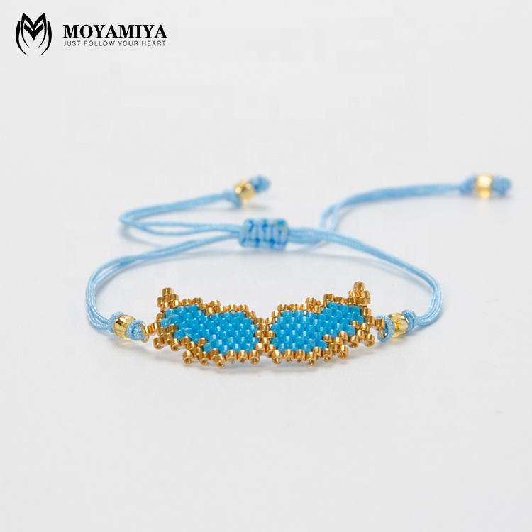 MI-B180235 hecho a mano joyas tendencias Moyamiya Miyuki alas de Ángel pulsera de cadena simple, pulsera de perlas
