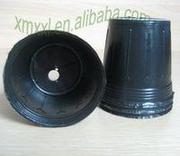 21cm Height round soft plastic black plant pot