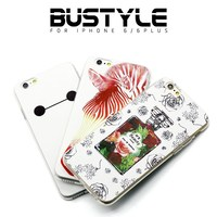 Phone case for iPhone 5s 6s plus with white basic design, high quality silicone soft mobile cover