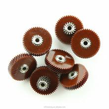 in acciaio inox e bachelite piccolo riduttore elicoidale componente