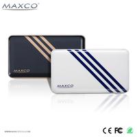 MAXCO 8000mah real capacity powerbank, rechargeable 8000 mah cell phone power bank, wholesale portable battery
