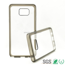 clear transparent tpu phone case with pc back bumper cover phone case for samsung