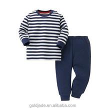 new kids baby stripe costumes pajama set,kids stripe pajama design with 100 cotton .OEM carton design printing sets