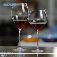 SANZO handmade etched wine glass/hiball/tumbler