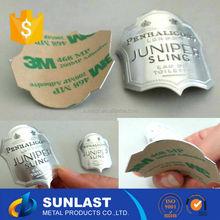 Sunlast 3 M adhesivo de la etiqueta engomada etiqueta de metal para vino de grado superior OEM602
