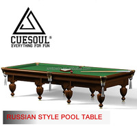CUESOUL TRADITIONAL RUSSIAN BILLIARD TABLE FOR SALE, EXCELLENT QUALITY AT LOW PRICE