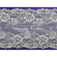 16-20 cm de nylon con spandex elástico encajes puntillas para lencería
