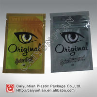 Golden and silver original spice gold and spice diamond 3G herbal incense bags/potpourri spice bags