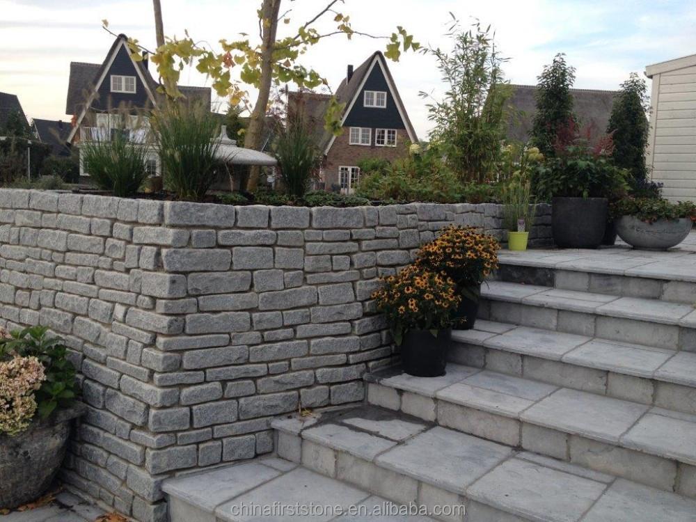 Rough Granite Blocks And Tumbled Granite Blocks