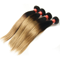 Three Tone Ombre Brazilian Hair Weave Wet And Wavy, Two Tone Ombre Remi Hair Weaving