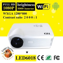 Android wifi Full HD LED 1080P projector 3000lumens Home Theater video Projector projector beamer enjoy big screen movie