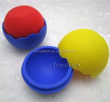 eco-friendly flower edge silicone ball shaped ice cube tray