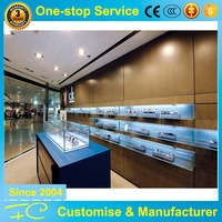 Utility gemstone display cases retail store wooden display furniture factory