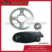 AX100 Motorcycle Sprocket & Chain for Yamaha (Sprocket: 42*14T Chain: 428)