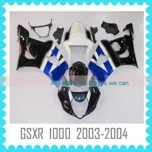 Custom Fairing Body Kit for SUZUKI GSXR 1000 K3 2003 2004 03 04