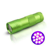 2015 Factory 12 LED Rechargeable Torch 395nm Purple Light Pet Urine UV Flashlight Detector Money detector Suppliers