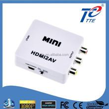 New Arrival Mini HDMI to RCA HDMI 2 AV Converter