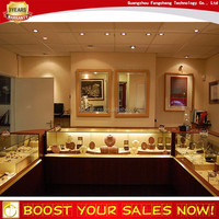 Multifunctional wooden MDF jewelry acrylic led light jewelry display case cabinet manufacturer