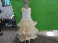 pretty princess dresses chiffon pettidress shoulder strap baby girls dresses nice design pettidress