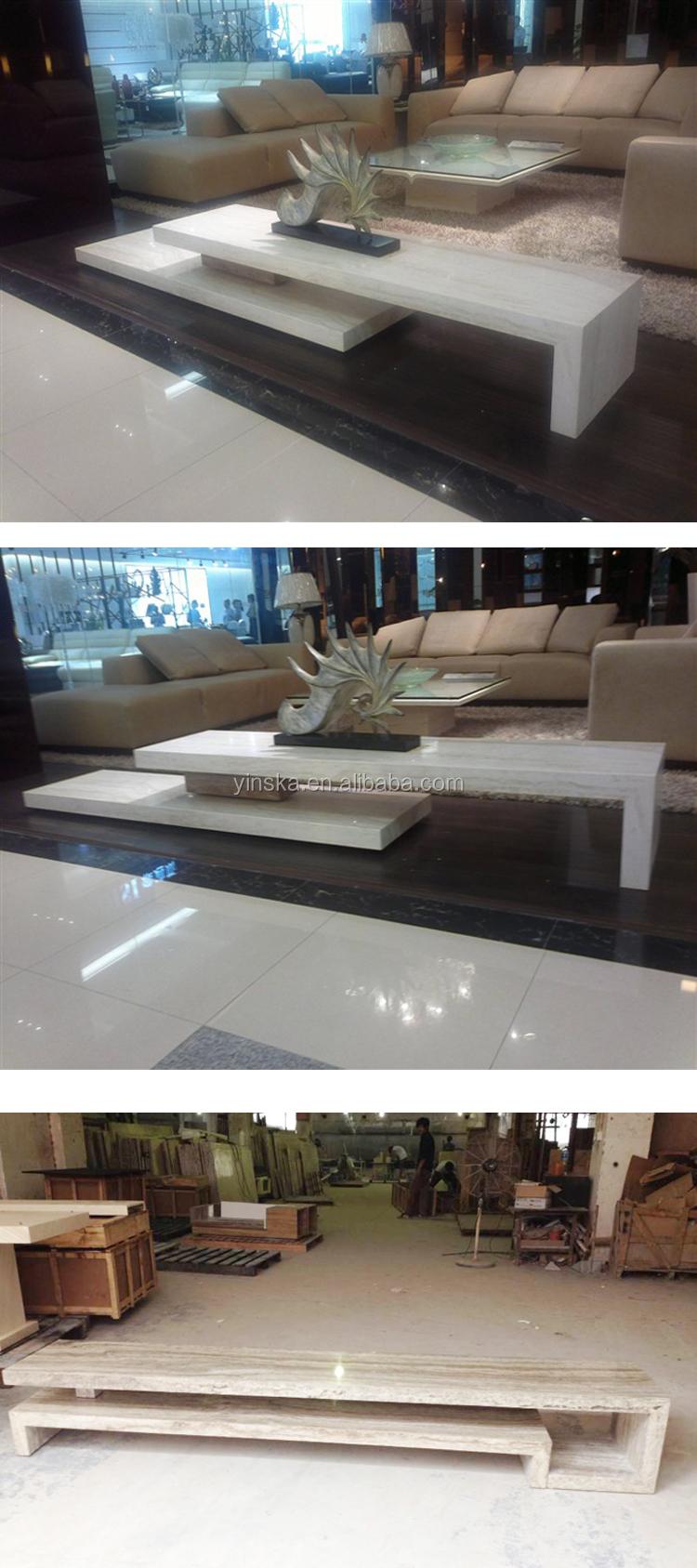 Moderne eenvoudige ontwerp marmer travertin woonkamer tv kast-tv ...