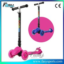 Fasy Best manual kick scooter, Plastic Mini Scooter For Children
