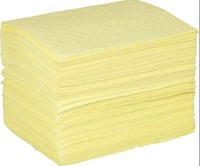 yellow 100% PP absorb chemical & hazardous spill mats roll For Spill Control environmental friendly MSDS certificated