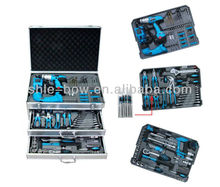 Carbon Steel 190 PC Combination Hand Tool Set With Silver Strong Case(tool set.High Quality hand tool kit)