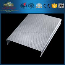 Fire proof S - Shape Strip false aluminum Ceiling Design