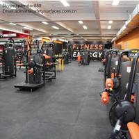 interlocking rubber flooring tile for fitness gyms room
