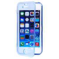 Fashion Soft Flip TPU Silicone Transparent Clear Case Cover For iPhone 5