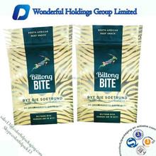 Beautiful Gold bags biltong packaging supply