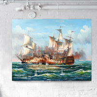 20X24 inch Seascape Oil Painting Caribbean Sailing Boat