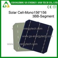 high efficiency low price 156x200 mono crystalline 2BB/3BB segment calculator solar cell