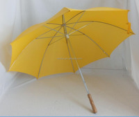 Double 8 Ribs Golf Style Yellow Color Umbrella For Promotion
