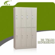 8 door lockable steel metal office furniture locker, changing room/school private clothes cabinet