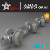 OEM F flanged type side roller galvanized conveyor chain for food