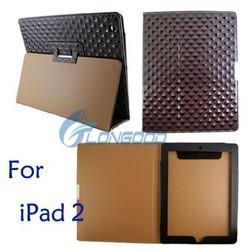 2015 Bling Diamond Style Flip Leather Case For Apple iPad 2