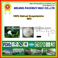 High quality and lowest price 100% natrual Scopolamine 99% 51-34-3: Scopolamine