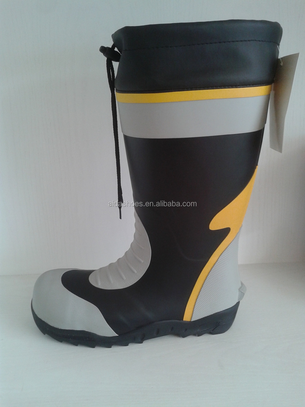 Long cut men cuff rubber fishing boots buy fishing boots for Rubber fishing boots