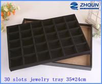 Black 30-grid unique jewelry organizers, accessories display tray