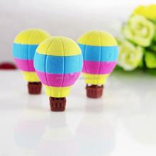 Icti auditoría de fábrica de juguetes educativos calientes globo de aire 3d forma de alimentos borrador de la historieta de la diversión borradores
