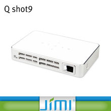JIMI Q shot9 NEW products! latest projector mobile phone 1280x800 native 720p Shutter 3D high brightness pico projector
