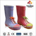 los niños yl7081 cordón venta al por mayor botas de lluvia
